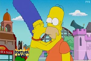 Les Simpson Marge et Homer